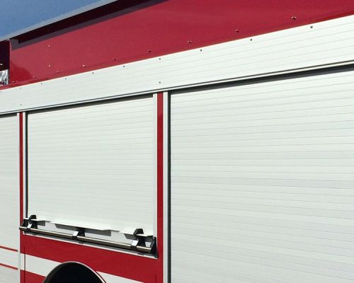 AMDOR Roll-up Doors on truck