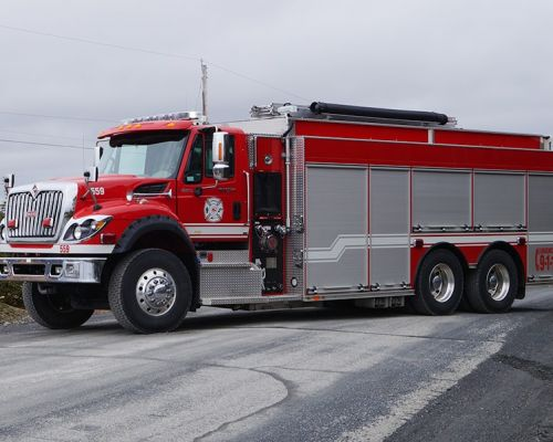 Firetruck with AMDOR roll-up doors