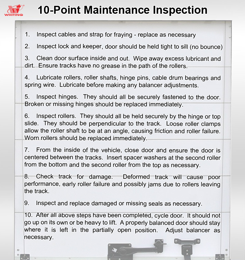 Maintenance Guide - WHITING