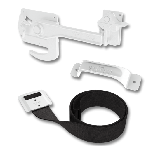 White Powder Coated Hardware